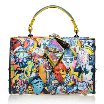"The Harleq bag, winner of the ""Mipel meets Warhol"" contest"